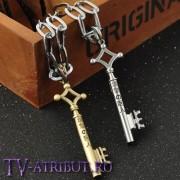 Ключ Эрена на специальной цепочке (цвета - серебро, бронза)