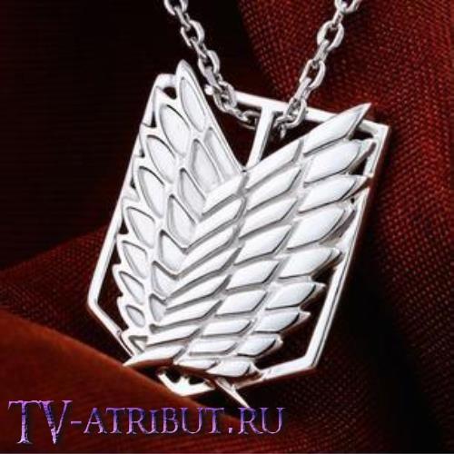 Кулон со знаком Корпуса разведки, серебро 925 пробы