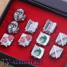 Комплект из 10 колец с логотипами отрядов и титаном