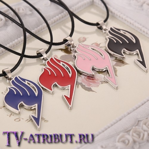 Кулон в виде символа гильдии Хвост Феи (4 цвета)