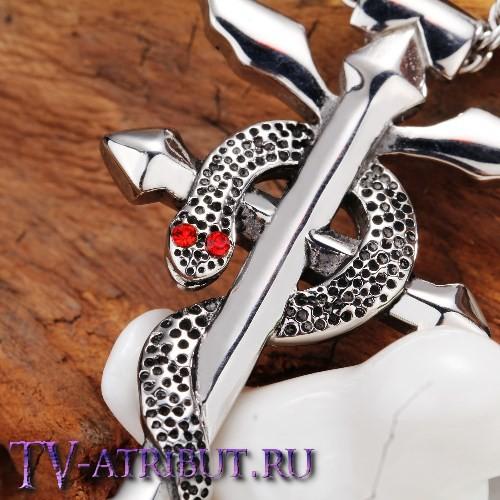 "Кулон ""Знак Фламеля"", сталь (цвета - золото, серебро)"