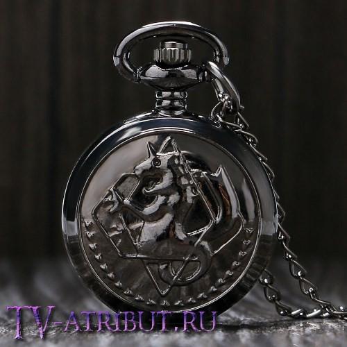 Часы-кулон Эдварда Элрика в чёрном исполнении