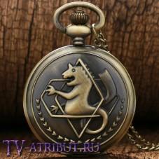 Часы Эдварда Элрика с надписью Fullmetal Alchemist