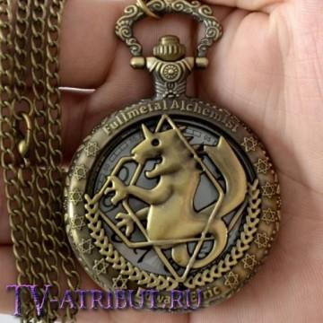 Часы Эдварда Элрика c гербом Аместриса - драконом