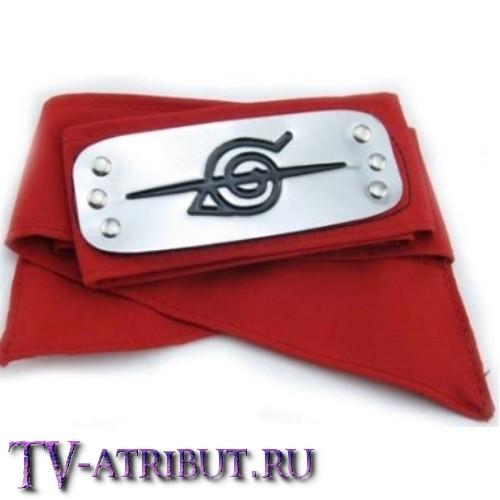 Повязка с перечеркнутым знаком Конохи (Деревни скрытого листа) (3 цвета)