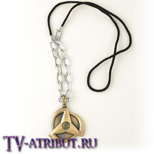 Кулон в виде Шарингана с символом Коноха, бронза