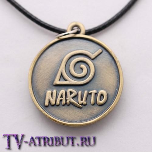 Кулон с символами Коноха, Учиха и Акацуки