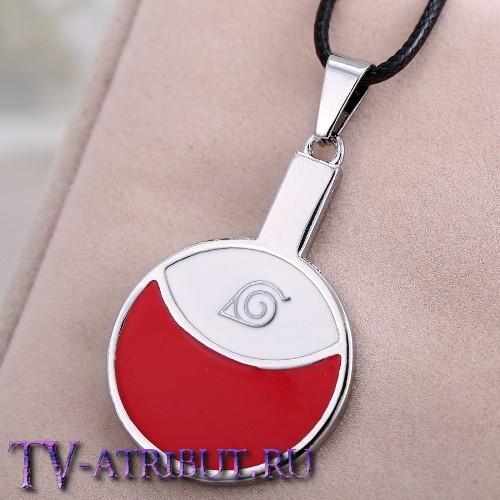 Кулон - символ клана Учиха и знак Конохи