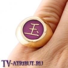Кольцо Сасори и Тоби, золотистое