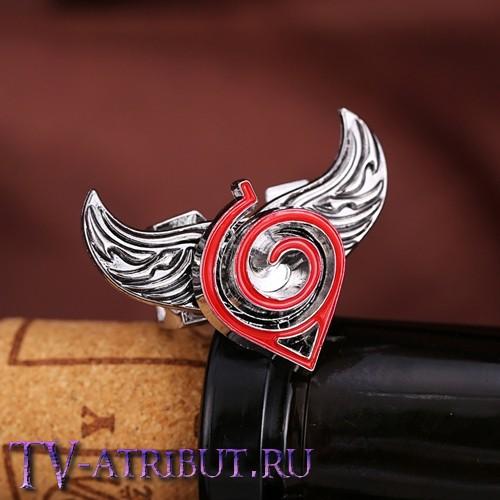 Кольцо со знаком Конохи и крыльями