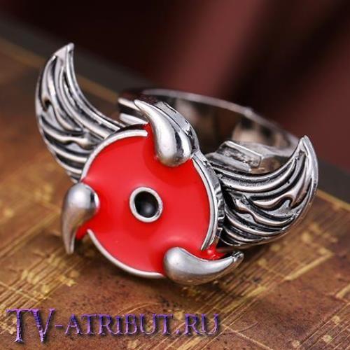 Кольцо с символом активного Шарингана и крыльями