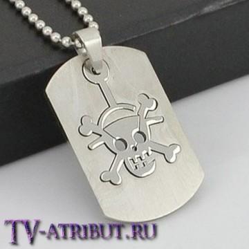 Кулон-жетон с эмблемой Монки Д. Луффи, сталь