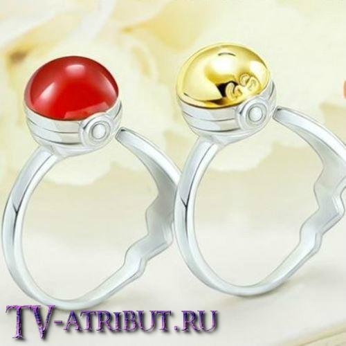 "Кольцо ""Покебол"", серебро 925 пробы"