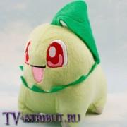 Мягкая игрушка покемон Чикорита (14 см)