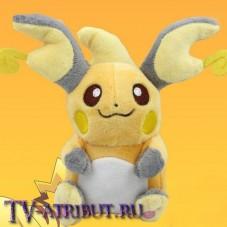 Мягкая игрушка покемон Райчу (14 см)