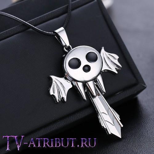 Кулон Бога Смерти с крыльями и мечом