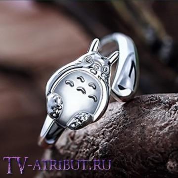 Кольцо в виде Тоторо, серебро S925
