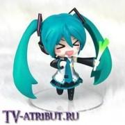 Фигурка Хацунэ Мику с луком и микрофоном (Nendoroid)