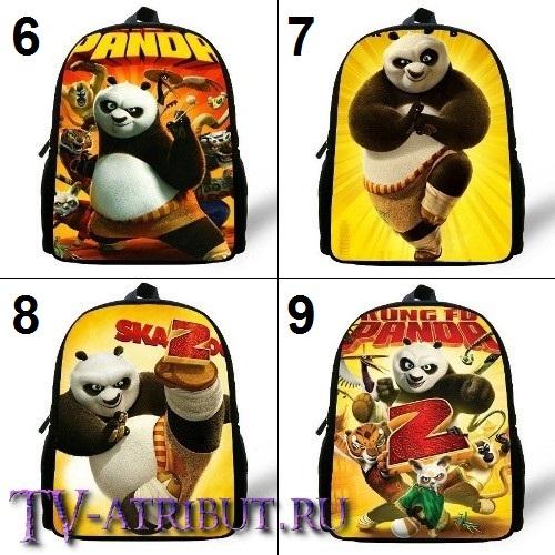 "Детский рюкзак из ""Кунг-фу панда"", 30 см (9 вариантов)"