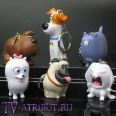 Комплект из 6 брелоков - персонажей мультфильма