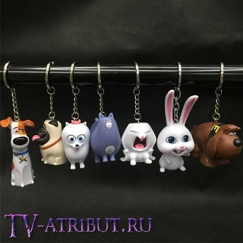 Комплект из 7 брелоков - персонажей мультфильма