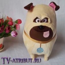 Мягкая игрушка мопс Мэл (25 или 35 см)