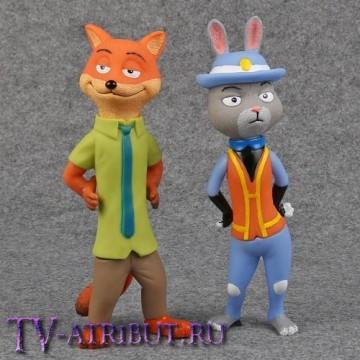 Комплект - фигурки-статуэтки Джуди и Ник (20 см)