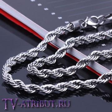 Кручёная цепочка Джастина Бибера, сталь (цвета - золото, серебро)