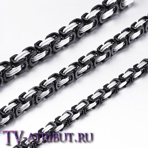 """Браслет """"Steel Rage"""", цвет серебро с чёрным"""