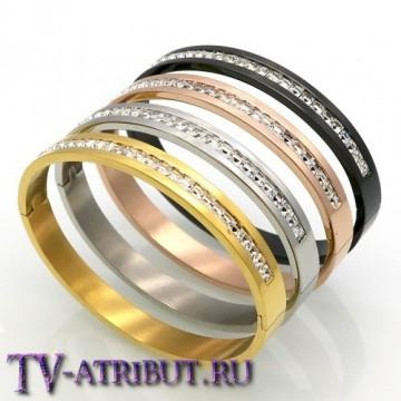 Браслет в стиле Cartier с цирконами (4 цвета)