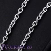 Цепочка якорного плетения, сталь