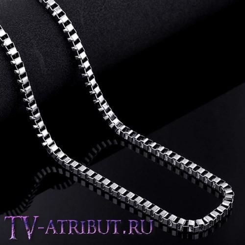 Цепочка венецианского плетения, сталь