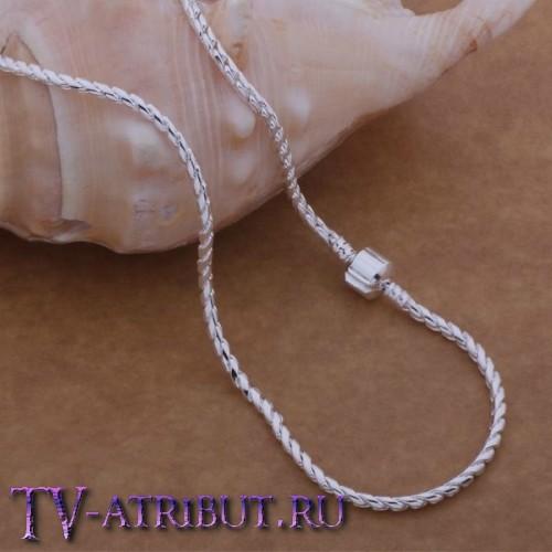 """Цепочка в стиле бренда """"Пандора"""", серебро S925"""