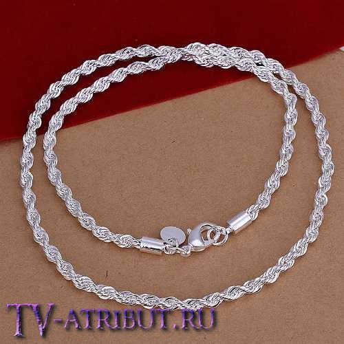 Цепочка кручёная, серебро S925