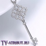"""Кулон ключ Tiffany """"Knot"""", посеребренный"""