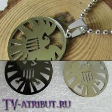 """Кулон с эмблемой """"Щит"""", высококачественная сталь (цвета - серебро, черный)"""