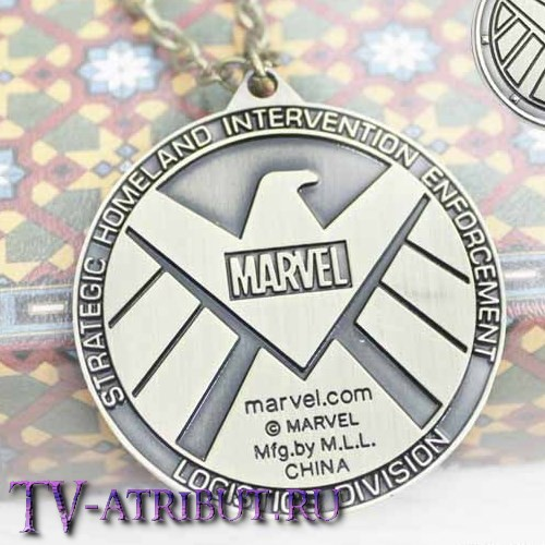 "Кулон ""Агенты S.H.I.E.L.D Marvel"" (3 цвета)"