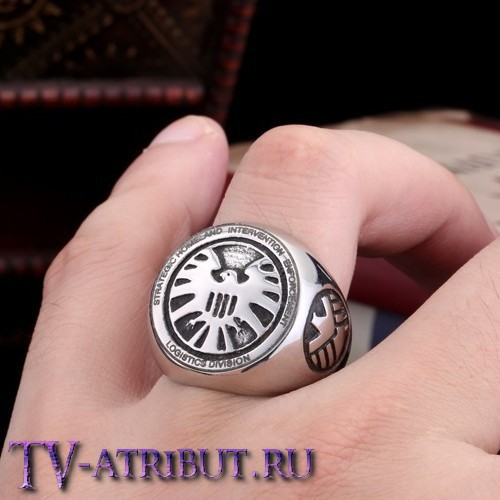 Кольцо со знаком Агентов Щита, сталь