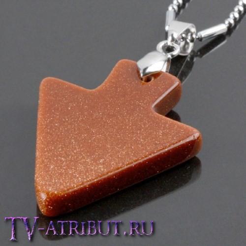 """Кулон """"Стрела"""" из натуральных камней (4 варианта)"""