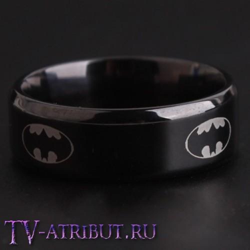 Кольцо с эмблемой Бэтмена, титановая сталь