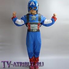 Детский костюм для косплея Капитана Америка