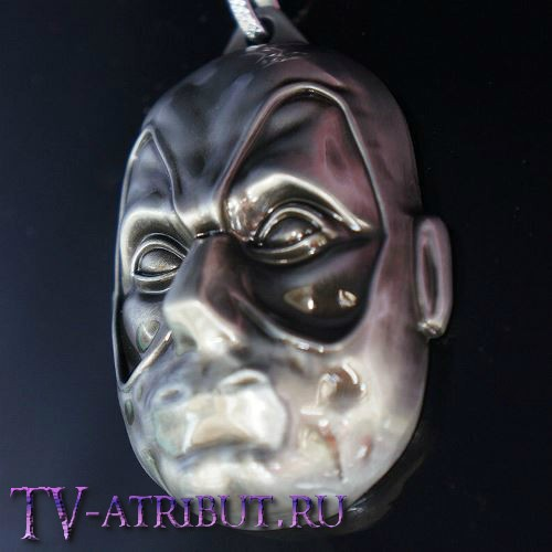 Брелок в виде лица Дэдпула