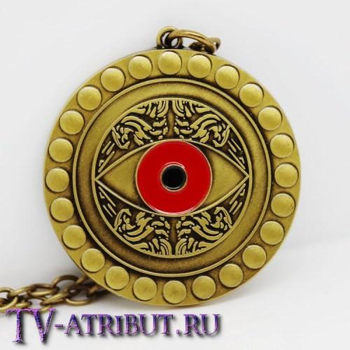Кулон в виде красного глаза Агамотто (цвета - бронза, серебро)