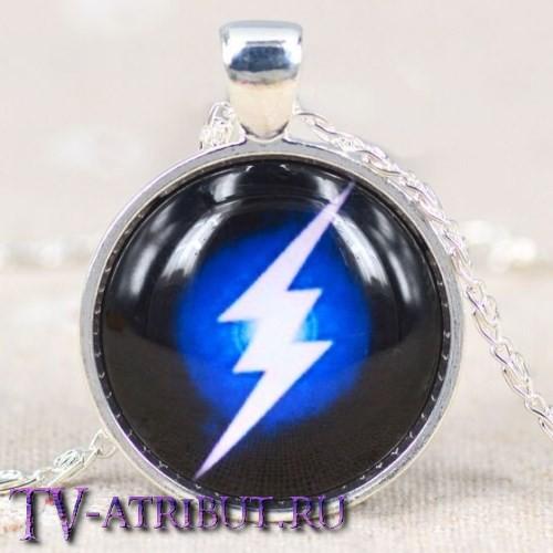 Кулон c эмблемой Флэша, сине-черный