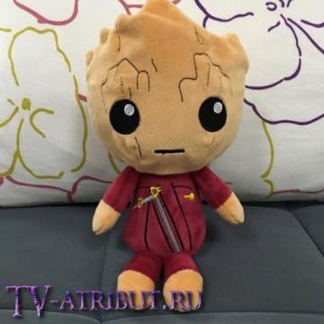 Мягкая игрушка Грут в бордовом костюме (20 см)