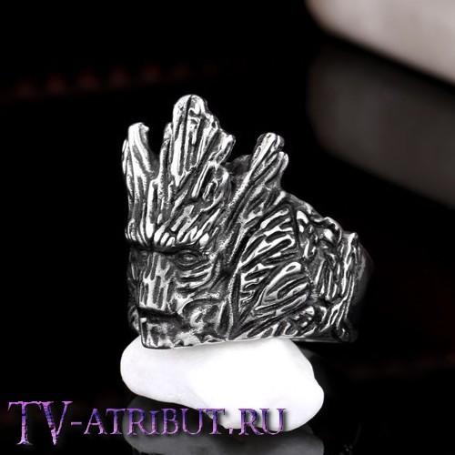 Кольцо в виде Грута, сталь