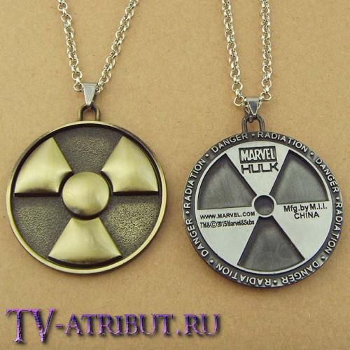 Кулон с эмблемой Халка (цвета - бронза, серебро)