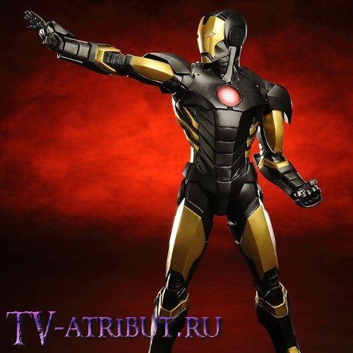 Коллекционная фигурка Железный человек в чёрной броне (22 см)