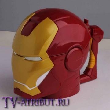 """Кружка """"Шлем Железного человека"""", с крышкой"""