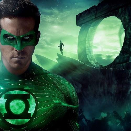 Кулон в виде знака Зеленого Фонаря, сталь